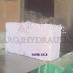 hydraulic paper scrap baling press