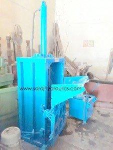 vertical hydraulic plastic bottle pressing machine