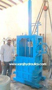 vertical scrap baling press machine