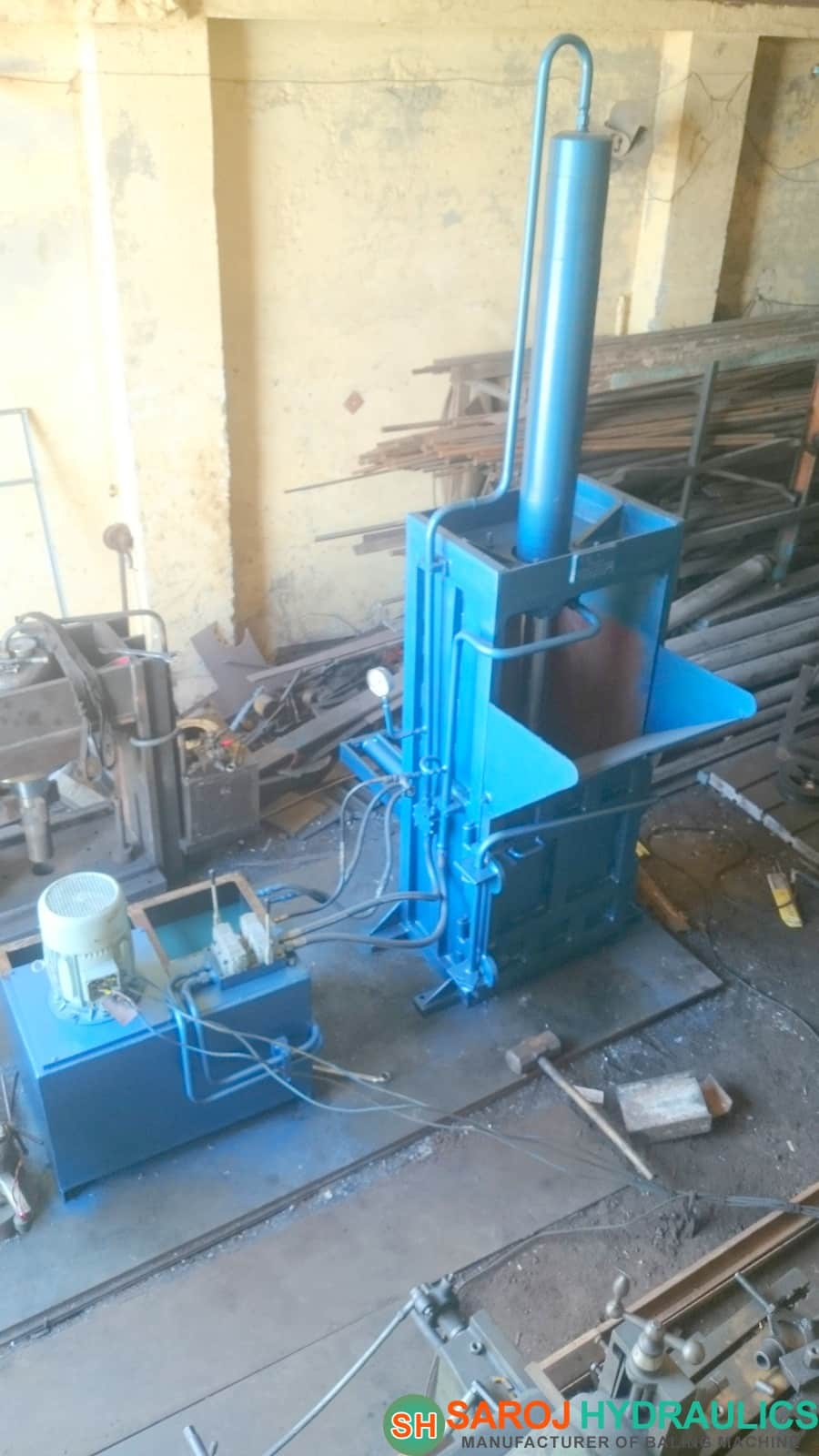 Pet Bottle Baling Machine Baling Press For Pressing And
