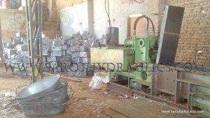 hydraulic tin can bale press