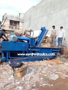 paper scrap press machine