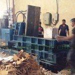 hydraulic paper baling machine