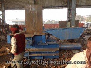horizontal baler machine