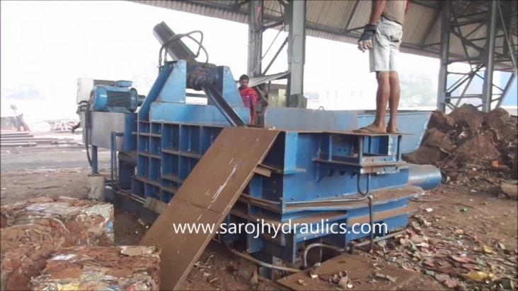 metal baler press machine